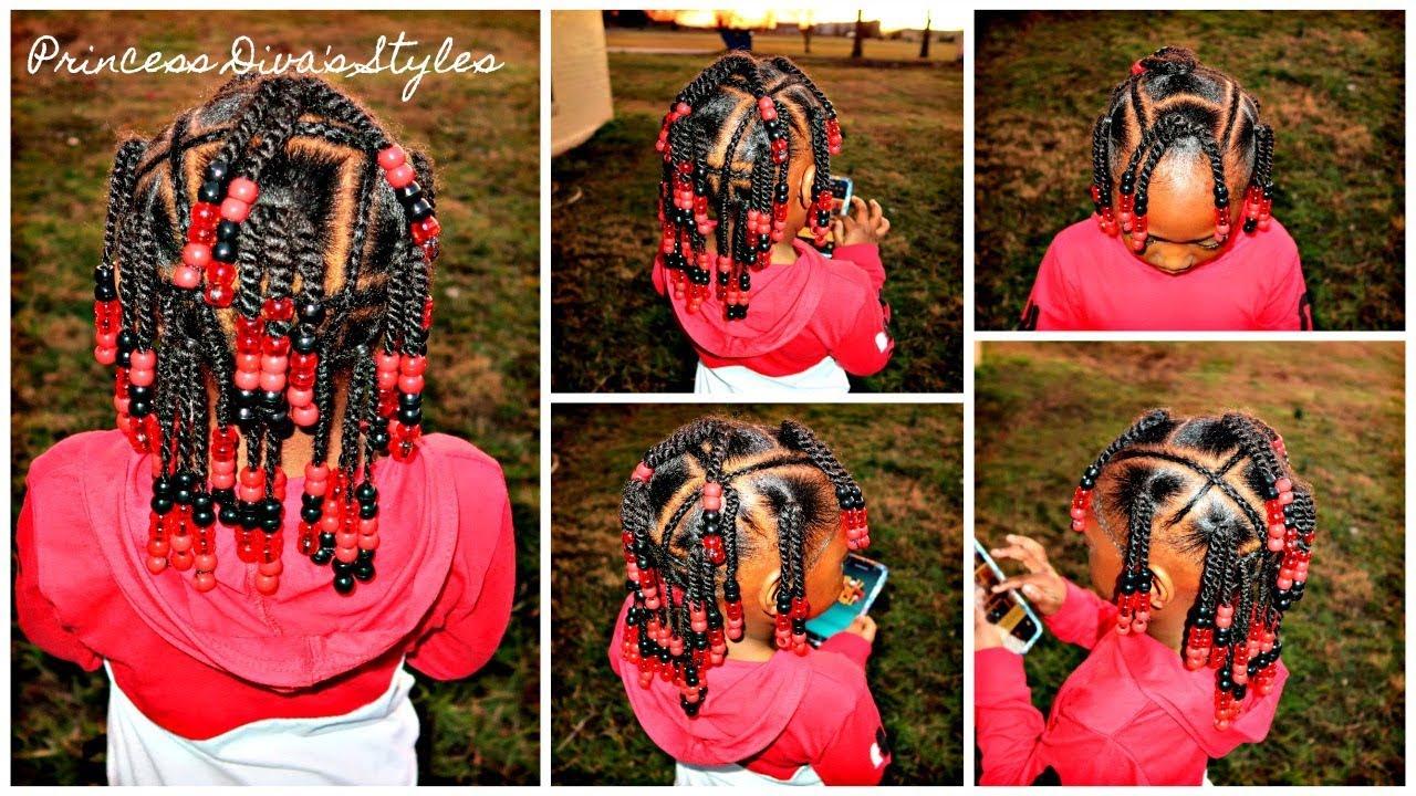Little Girls Hairstyle Beads Braids \u0026 Twists