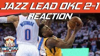 Ricky Rubio Outplaying Westbrook As Jazz Win Game 3 Reaction | Hoops N Brews