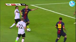 Messi misses a good chance in Manchester United 0 - Barcelona 0 draw