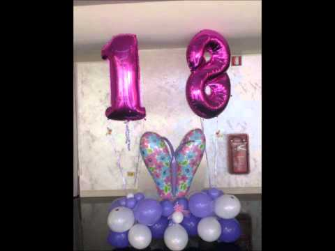 Decorazioni Sala Per 18 Anni : ° compleanno bomboniere composizioni palloncini ad elio