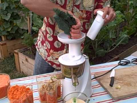Hurom Slow Juicer Kale : Juicing Apples and Kale in the Hurom Slow Juice Extractor by DiscountJuicers.com (part 2 of 2 ...