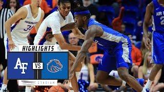 Air Force vs. Boise State Basketball Highlights (2018-19) | Stadium