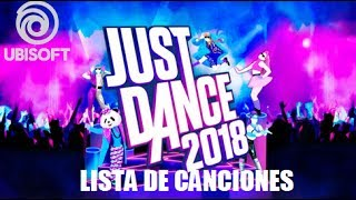 Lista de Canciones Oficial - Just Dance 2018 - Official (Song List) - Wii, PS3, Xbox 360 Launch