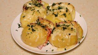Запеченная картошка в духовке с начинкой из сыра и бекона Так вкусно пришлось готовить добавку