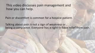 caregiver video series pain management