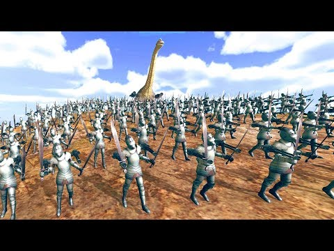 HUMAN KNIGHTS with MINIGUNS vs GIANT SNAKES! - Beast Battle Simulator Gameplay
