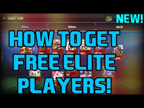 How to get FREE ELITE Players in Madden Mobile 17 NO HACKS!