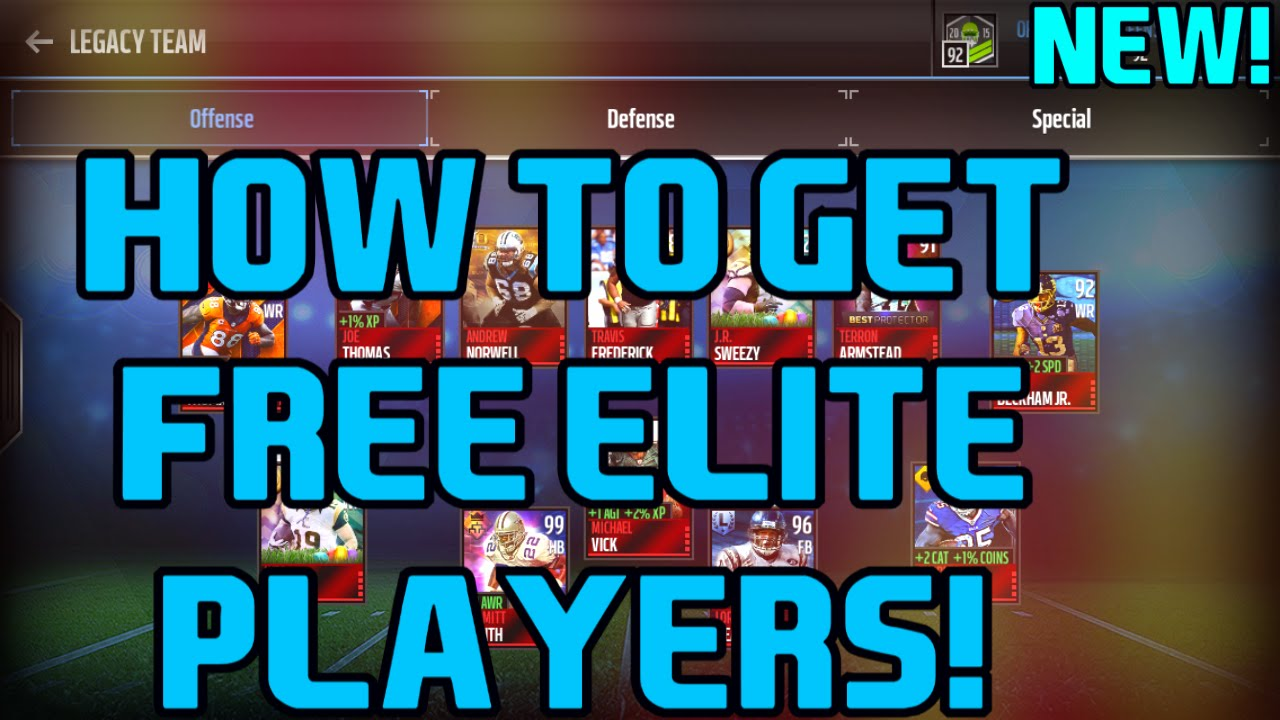 how to get free elite players in madden mobile 17 no hacks youtube