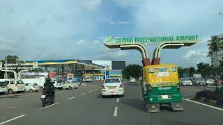 Driving to #Cochin International Airport | القيادة إلى مطار كوتشي الدولي، #كيرالا  #India