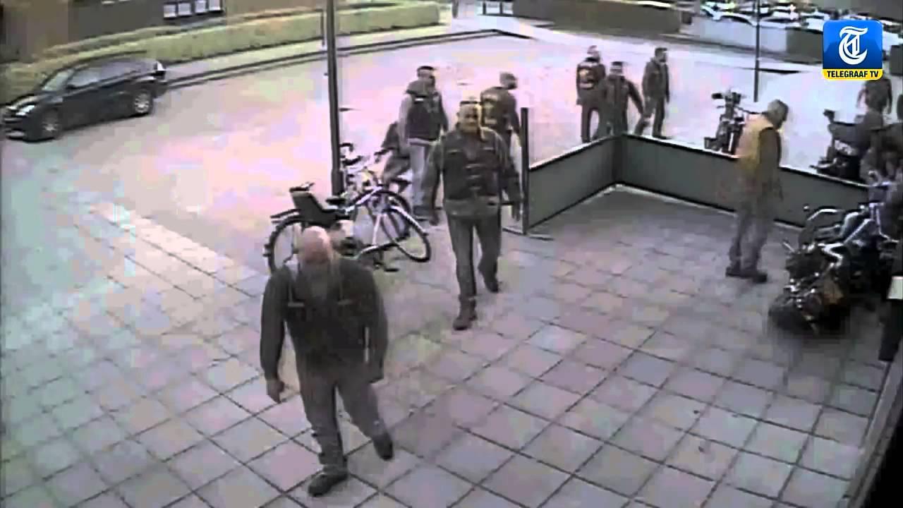 Hells Angels prospect shooting a Bandidos member THE FAT MEXICAN vs THE  DEATH HEAD