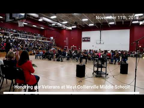 Veterans Day Celebration at West Collierville Middle School