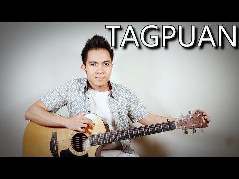 Tagpuan - Moira Dela Torre (fingerstyle guitar cover + lyrics on screen)
