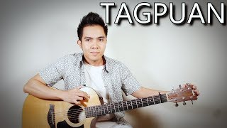 Tagpuan - Moira Dela Torre (fingerstyle guitar cover + lyrics on screen)