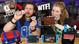 Download My Girlfriend & I Buy WEIRD Nintendo Switch Accessories! Mp3 and Videos