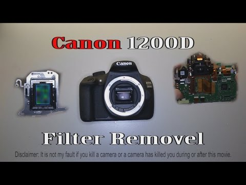 Canon EOS 1200D / Rebel T5 IR Cut-off filter removal + my disassembly work-flow