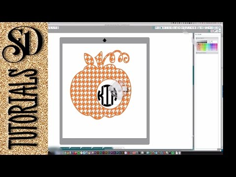 Filling Shapes With Cuttable Patterns And Creating Monograms With Silhouette Studio