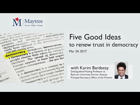 Five Good Ideas to renew trust in democracy with Karim Bardeesy