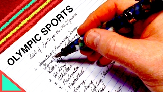 ASMR - Writing Olympic Sports
