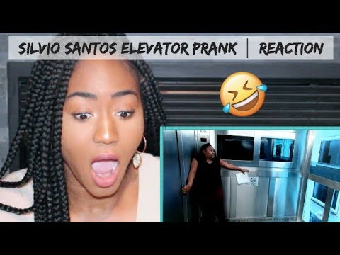 Canadian REACTS to Brazilian Prank  by Silvio Santos Elevator Prank