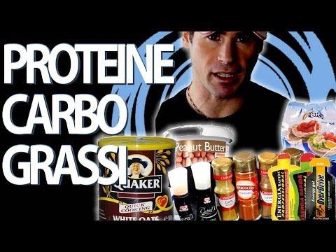Proteine, carboidrati e grassi le mie fonti preferite
