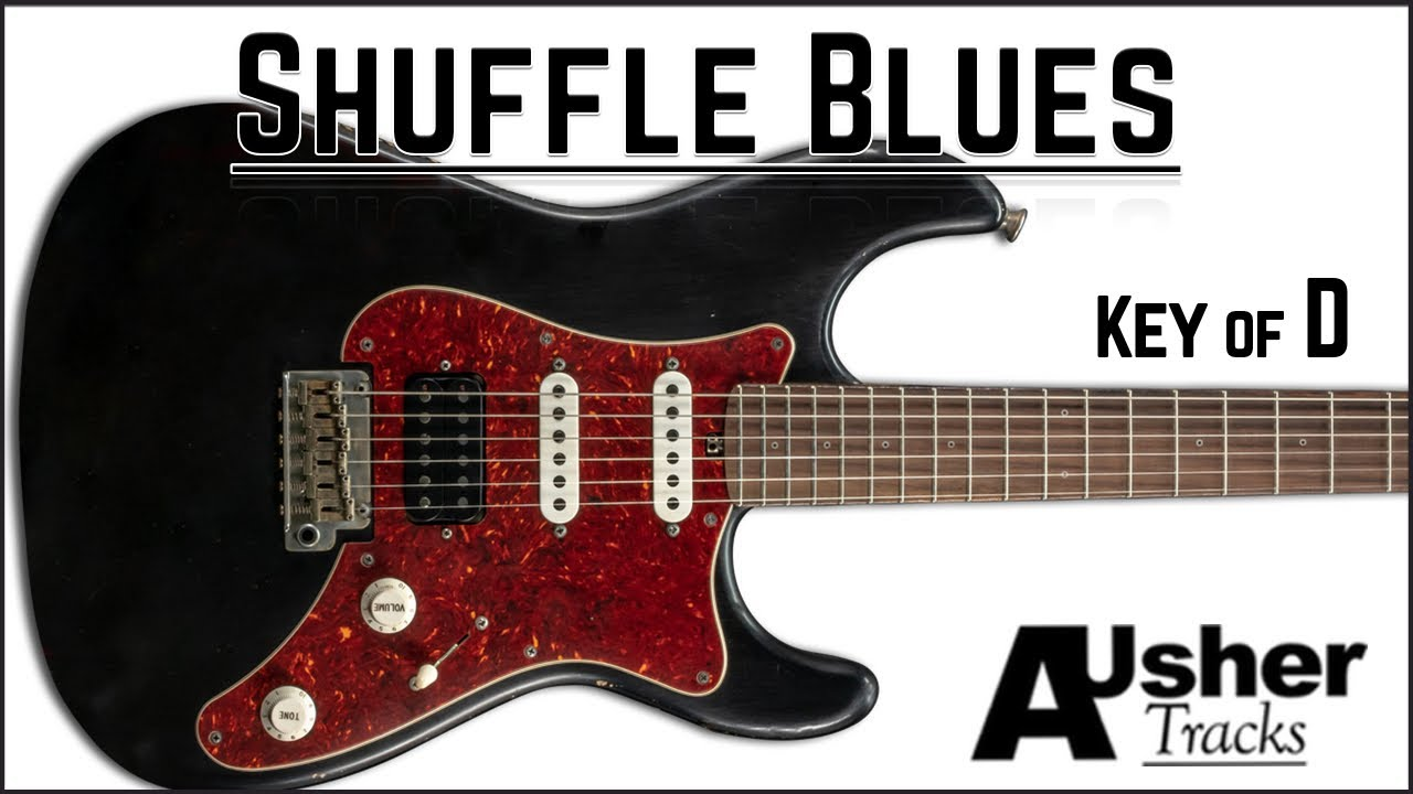 Shuffle Blues in D | Guitar Backing Track