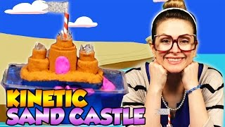DIY Sand Castle with Kinetic Sand - Summer Craft | Arts & Crafts with Crafty Carol at Cool School