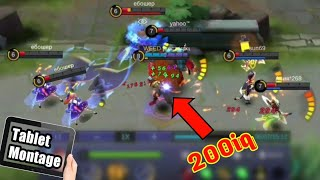 WTF MOMENTS MOBILE LEGENDS 1 vs 5 savage- Montage on tablet. 2019