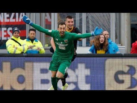 ● Alberto Brignoli GOAL│Benevento - Milan 2-2 [HD]