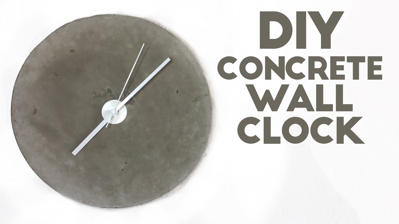 Diy Concrete Wall Clock Modern Builds Ep 45 Youtube