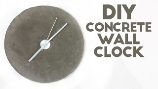 DIY Concrete Wall Clock | Modern Builds | EP. 45