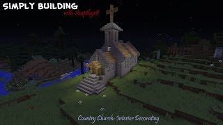 How to build a medieval church in Minecraft Part 5: Interior Decorating YouTube