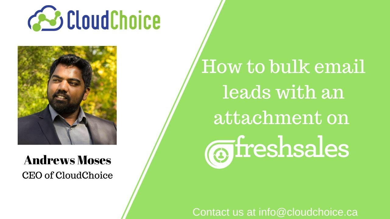 How To Bulk Email Leads With An Attachment On Freshsales?