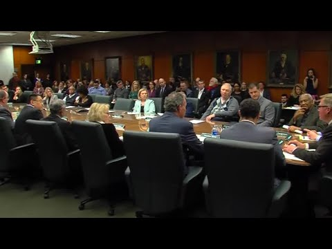 Michigan State University Board of Trustees make comments after Nassar case