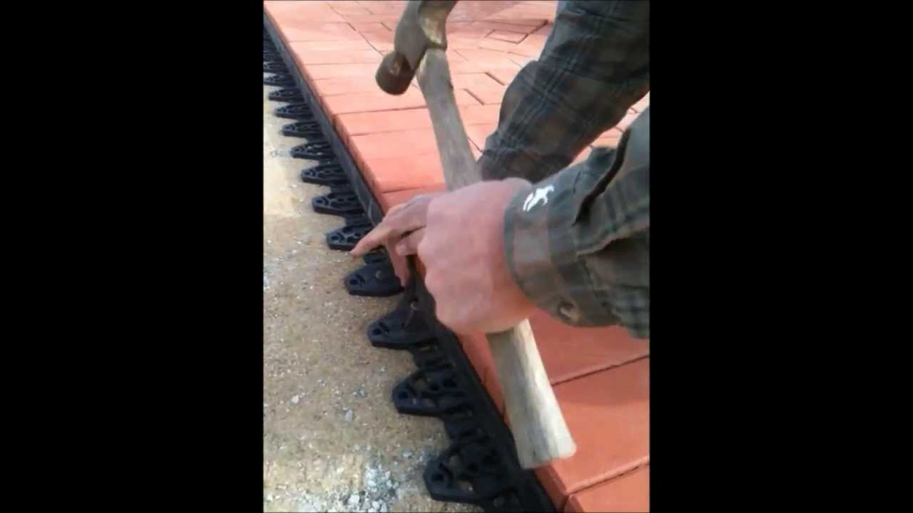 paver edging installation with edgetite spikes youtube