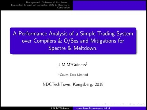 Part I: A Performance Analysis of a Trading System over Comp