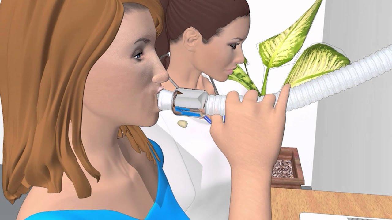 yale school of medicine sputum induction 3d animation