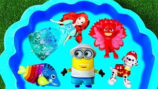 Learn Colors with Paw Patrol, Animals, Minions and Super Heroes for Children