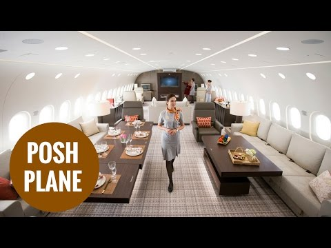 Boeing Dreamliner decked out as world's largest luxury business charter