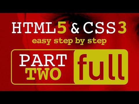 تعلم HTML5 و CSS3 خطوة بخطوة  - دورة كاملة
