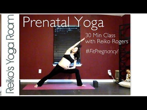 Fit Mom's Prenatal Yoga 30 minute Full Class
