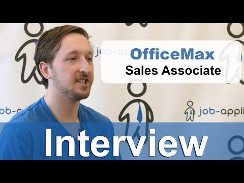 Officemax Interview - Sales Associate