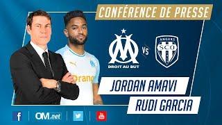 OM - Angers l La conference de Jordan Amavi et Rudi Garcia