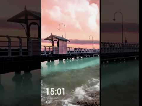 Sunset Ocean Waves Live Wallpaper