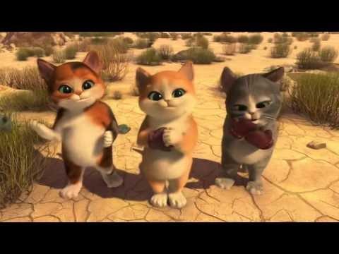 Смотреть онлайн мультфильм кот в сапогах и три чертёнка