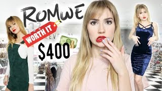 I SPENT $400 ON ROMWE.. Is It Legit?! This is what I got!
