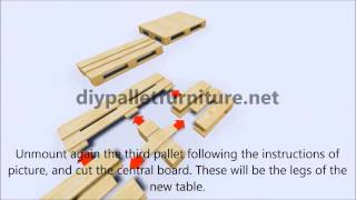 Instructions Step By Step Of How To Make A Table With Pallets