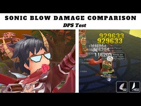 Sonic Blow Vs Critical: DPS Test