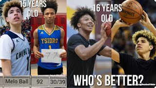 Who Is Better At 15 Years Old... Ft. LaMelo Ball And Mikey Williams