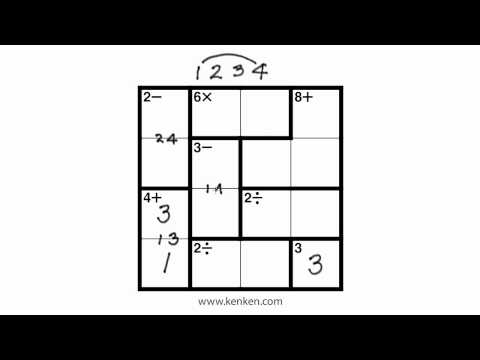image regarding Printable Ken Ken Puzzles named How in the direction of Engage in KenKen - YouTube
