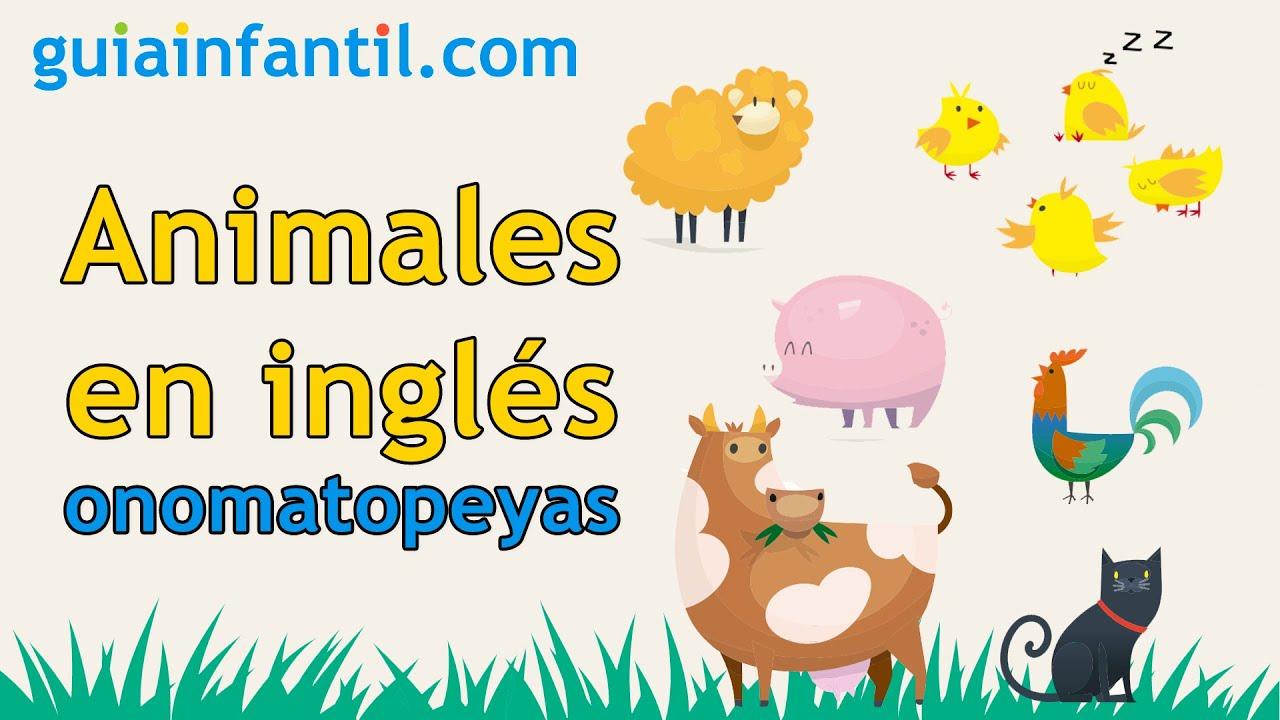 Juego para aprender las onomatopeyas de los animales 🐮 Nombres de los animales en inglés para niños